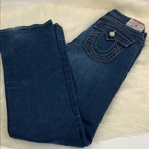 True Religion mid rise boot cut jeans